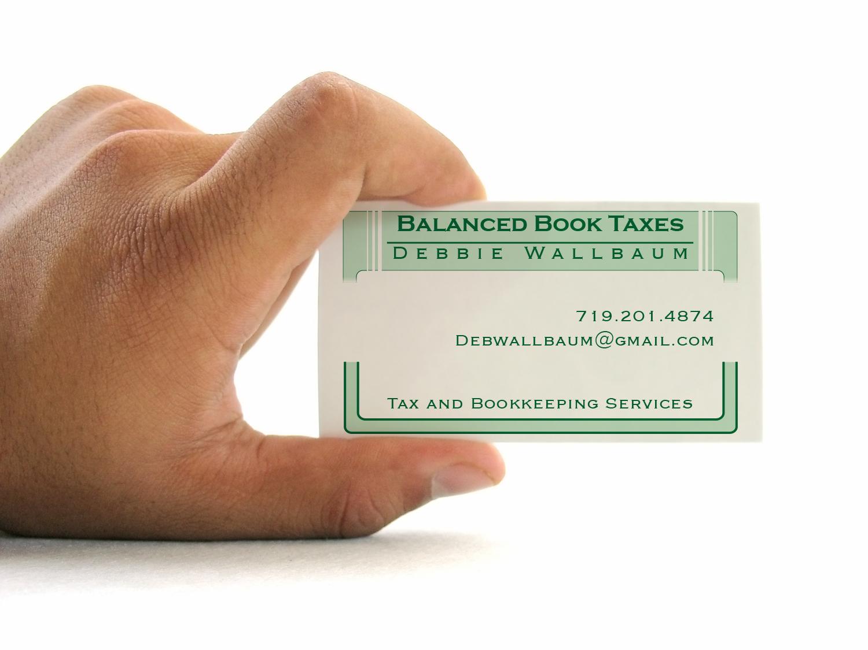 Balanced Book Taxes business card